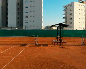 Rafia Laminada en cancha de tenis