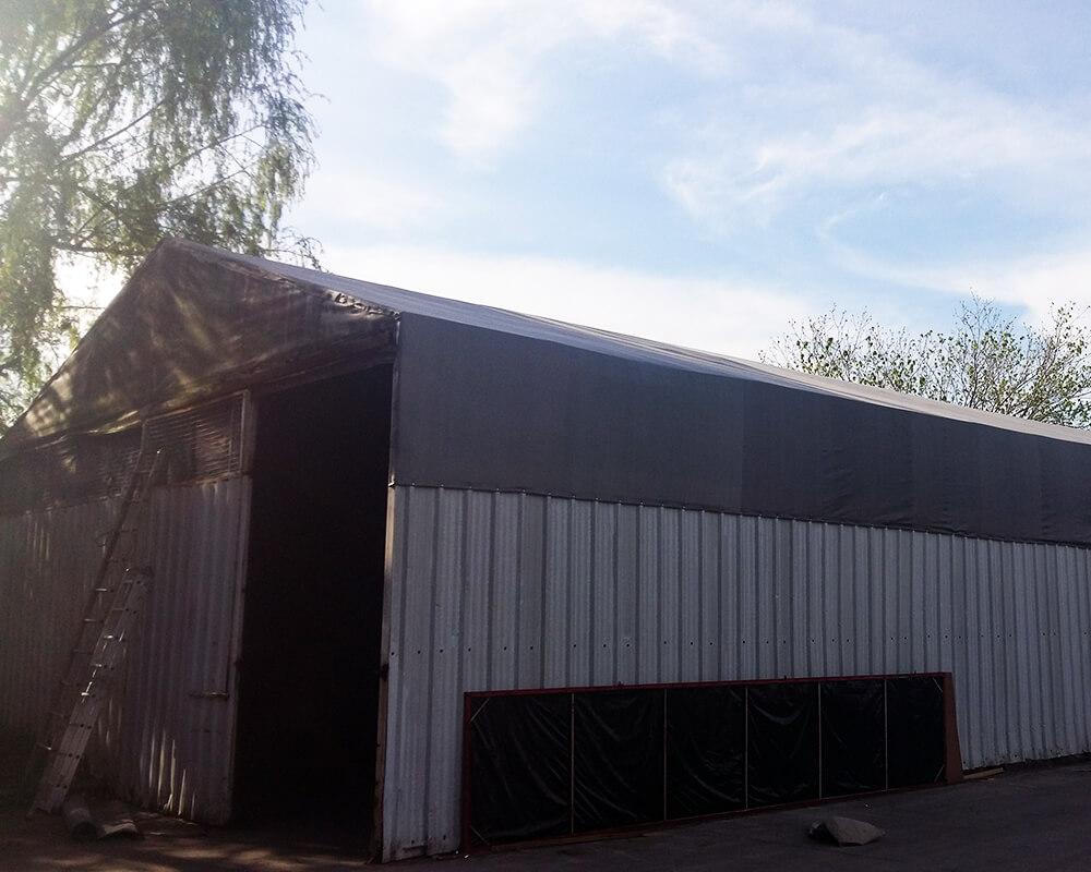 Cubierta de techo con Media Sombra